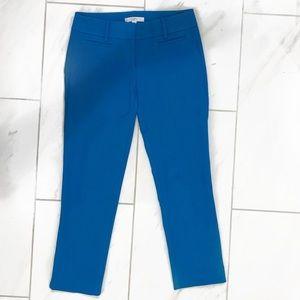 LOFT Marissa Rivera Aqua Blue Ankle Pants! EUC
